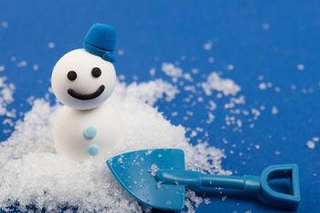 家の中で作る雪だるま